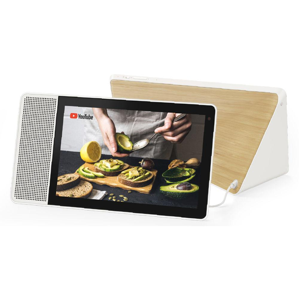 Lenovo 10 in. Smart Display with Google Assistant - White Front/Bamboo Back