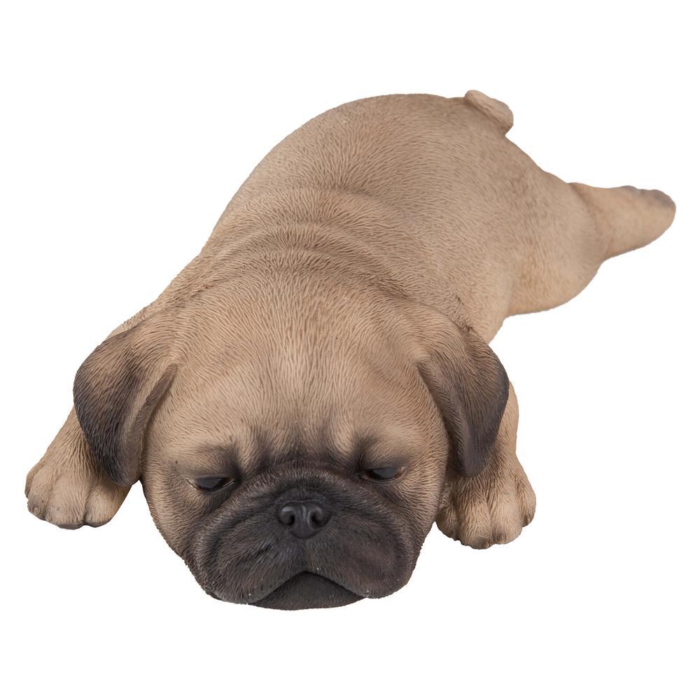 Pug Puppy Sleeping Statue
