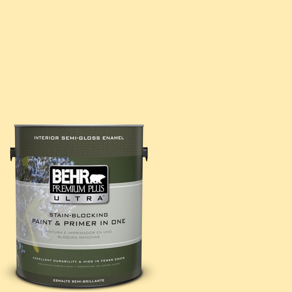 BEHR Premium Plus Ultra 1-gal. #ICC-50 Joyous Semi-Gloss Enamel Interior Paint