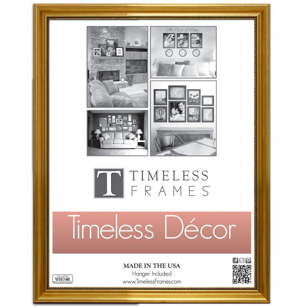 Timeless Frames Astor 1-Opening 11 in. x 14 in. Gold Picture Frame ...