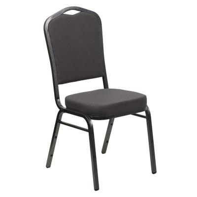 Gray Fabric/Silver Vein Frame Stack Chair