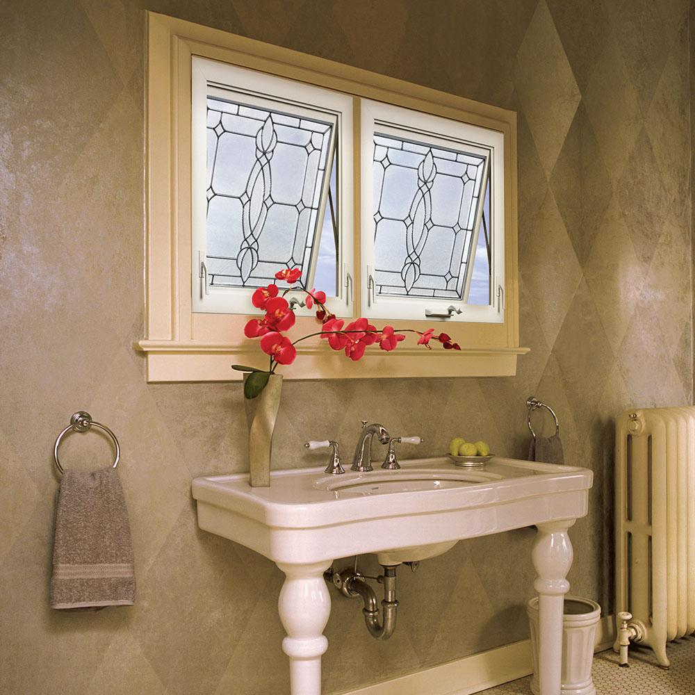 decorative glass bathroom windows hy lite 28 5 in x 28 5 in decorative glass awning vinyl window  decorative glass awning vinyl window