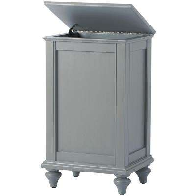Hamilton 18.5 in. W Grey Lift-Top Hamper