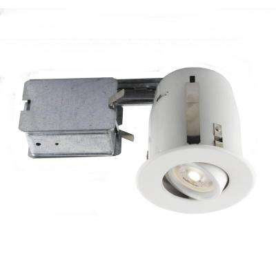 Charming Matte White Recessed LED Lighting Kit With GU10 Bulb Included