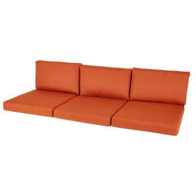 Moreno Valley 26.25 x 30.75 Outdoor Sofa Cushion in Sunbrella Canvas Rust