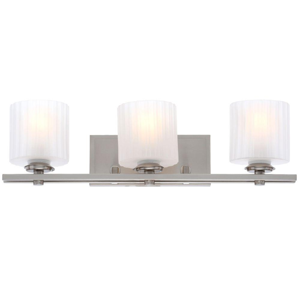 Sheldon Collection 3-Light Brushed Nickel Surface Mount Sconce