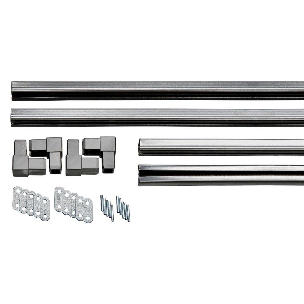 Matrix 1.1 in. x 95.5 in. x 4 ft. Galvanized Powder-Coated Steel ...