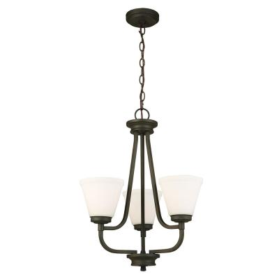 Mayview 3-Light Matte Bronze Chandelier