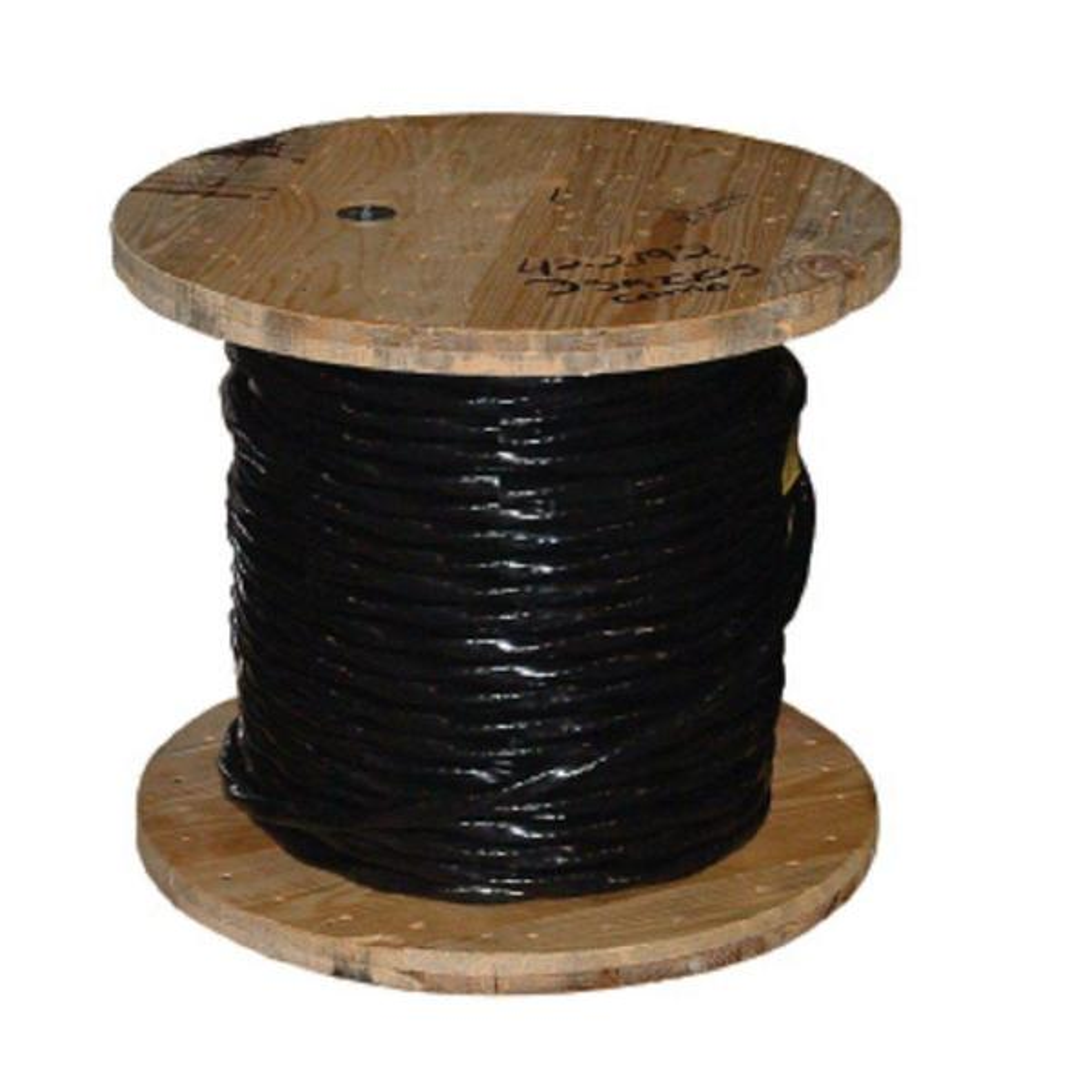 250 ft. 2/0 Black Stranded CU SIMpull THHN Wire