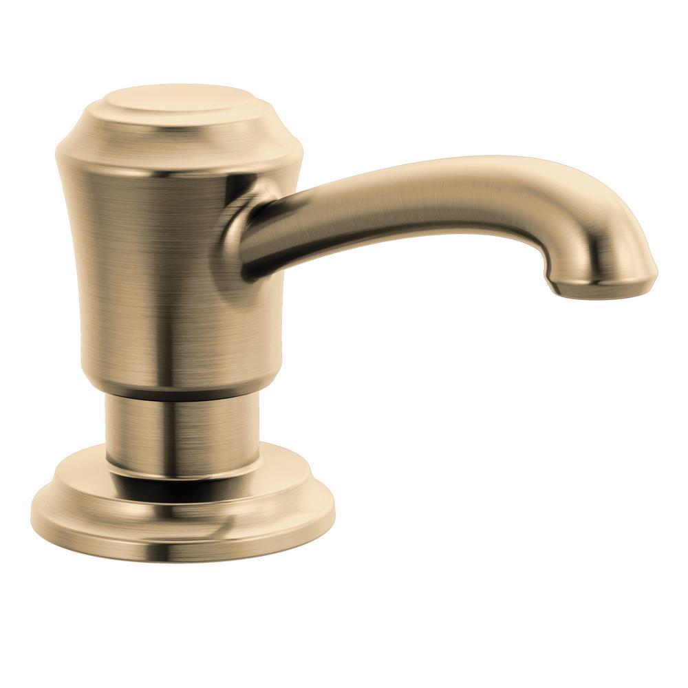 Delta Cassidy Deck Mount Metal Soap Dispenser in Champagne Bronze