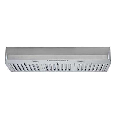 KOBE 36 in. 680 CFM Under Cabinet Range Hood in Stainless Steel with Flame and Temp Sensors
