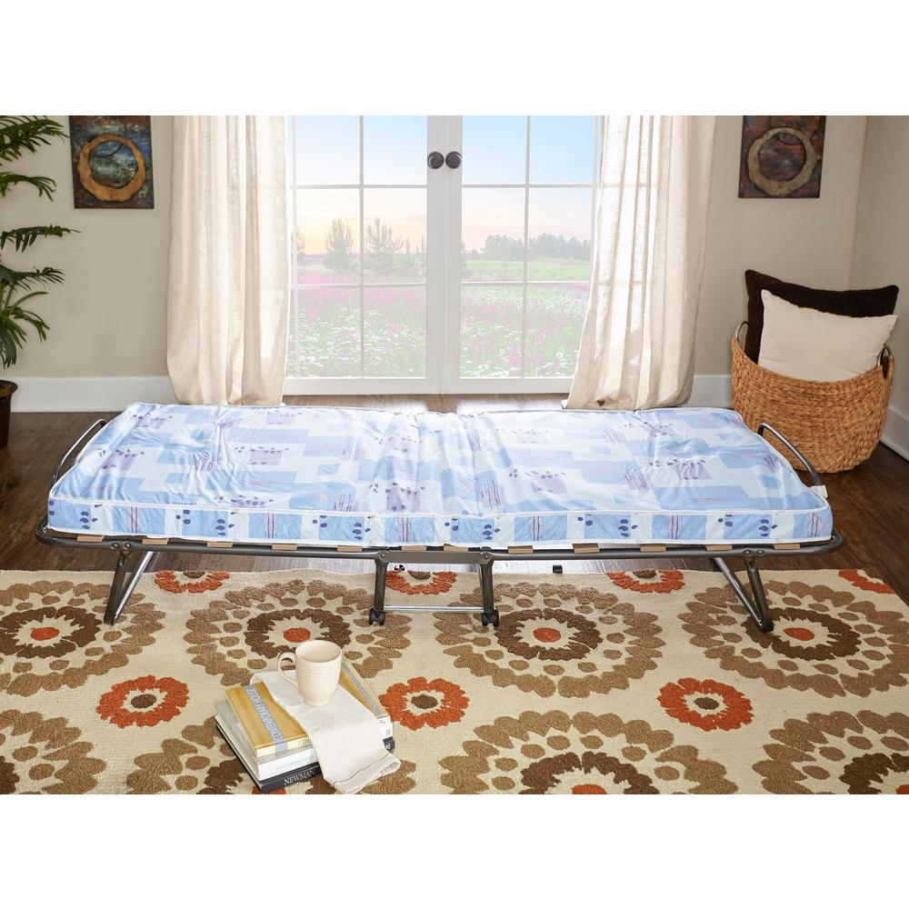 Linon Roma Folding Bed with Twin Medium Mattress