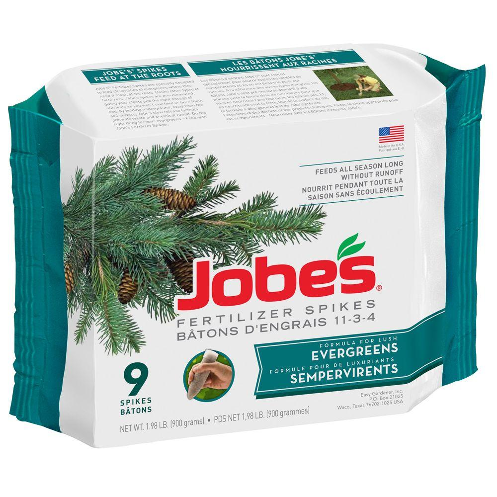 Evergreen Tree Fertilizer Spikes With Biozome 9 Pack