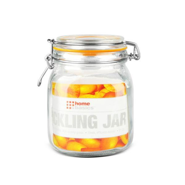 Home Basics 34 oz. Medium Glass Pickling Jar GJ01372