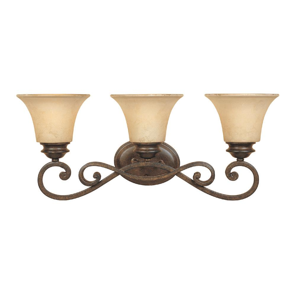 Designers Fountain Mendocino 3-Light Forged Sienna Wall Light