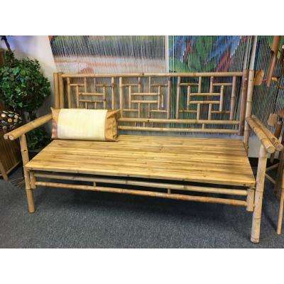 Natural Bamboo Standard Lattice Back Bench