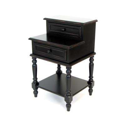 Black Classic End Table