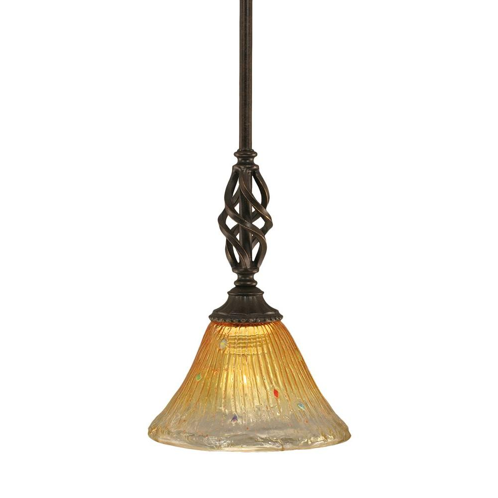 Filament Design Concord 1-Light Dark Granite Pendant