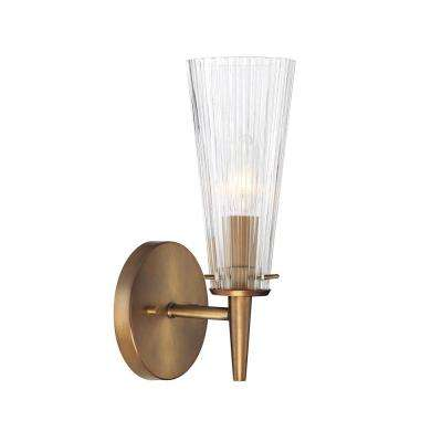 Montelena 1-Light Old Satin Brass Interior Wall Sconce