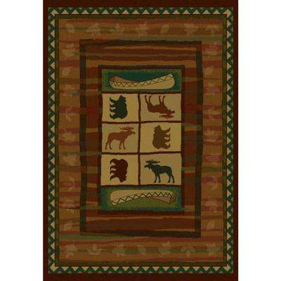 Hearthstone Beige/Green 5 ft. 3 in. x 7 ft. 6 in. Area Rug