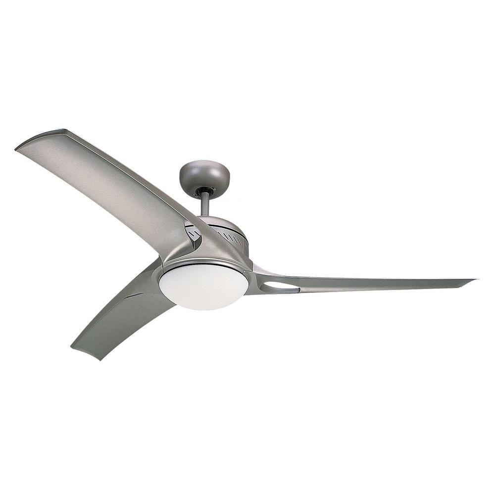 monte carlo mach one 52 in. titanium finish ceiling fan with 3