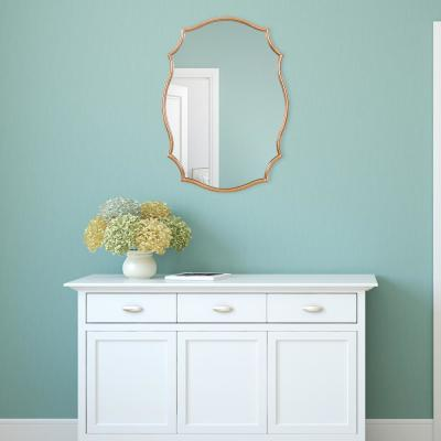 24 in. x 36 in. Gold Ornate Wall Accent Mirror