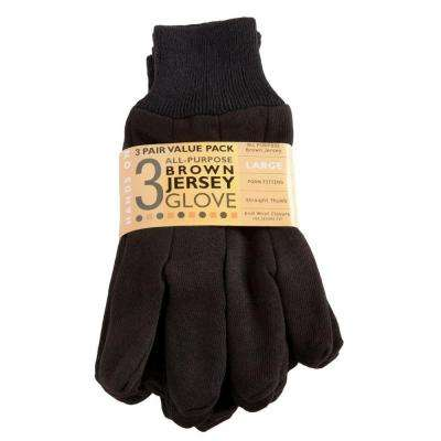 Cotton/Poly All Purpose Brown Jersey 3 Pack