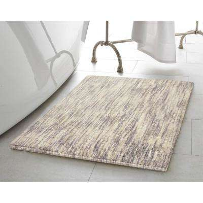 Taylor Reversible Cotton Slub 17 in. x 24 in./21 in. x 34 in. 2-Piece Bath Rug Set in Taupe