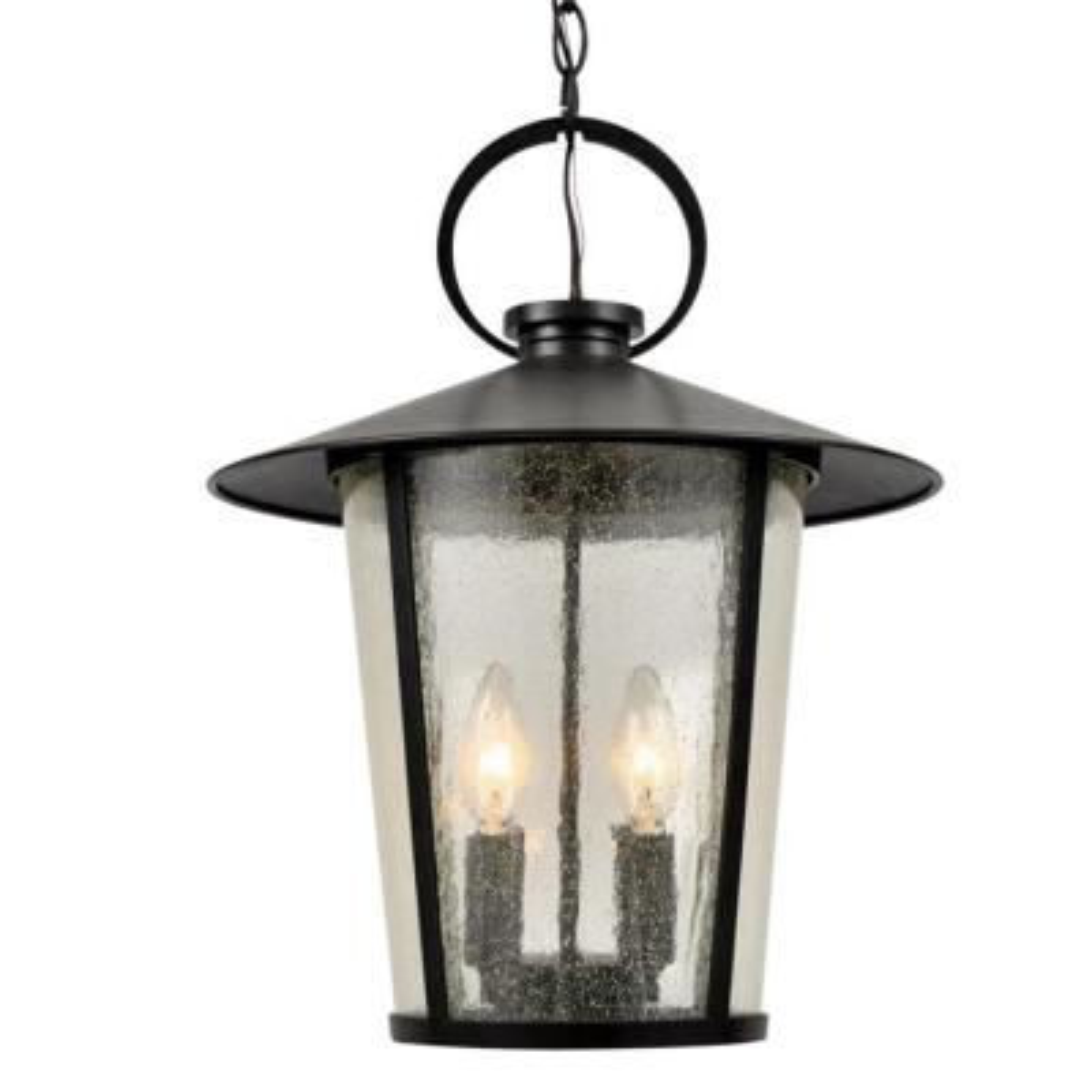 Andover 4-Light Matte Black Lantern Outdoor Chandelier