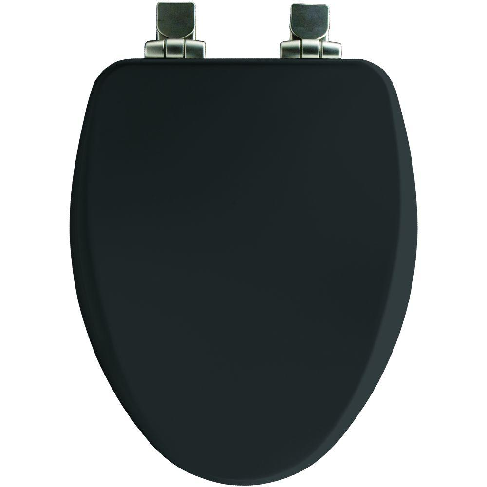 Elongated Closed Front Toilet Seat in Black