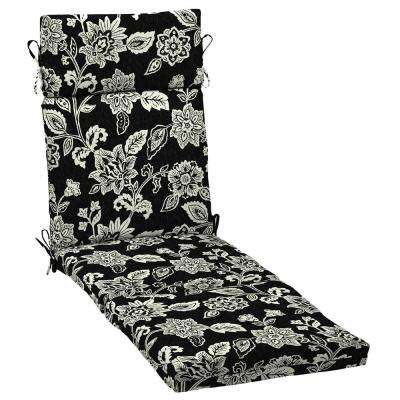 21 in. x 42.5 in. Ashland Jacobean Outdoor Chaise Lounge Cushion
