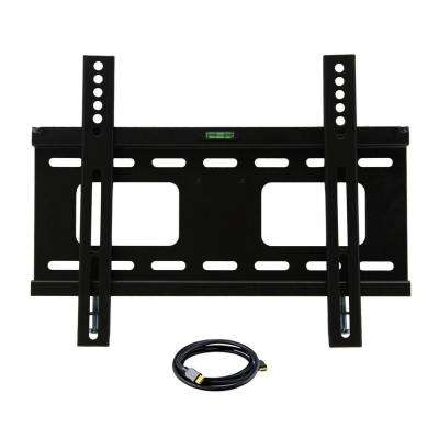 23 in. to 37 in. Fixed Television Wall Mount with HDMI Cable in Black