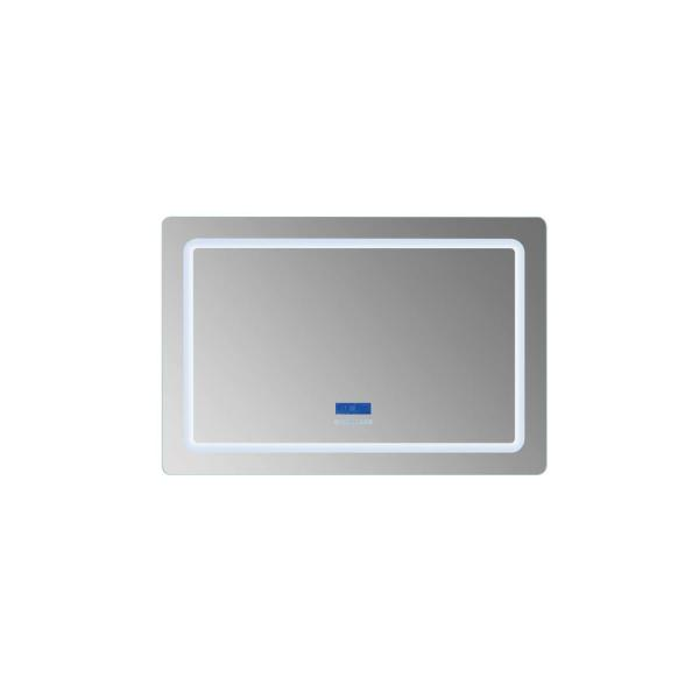 Caldona 48 in. W x 32 in. H Frameless Rectangular LED Light Bathroom Vanity Mirror in Clear