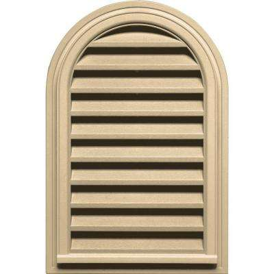 22 in. x 32 in. Round Top Gable Vent in Dark Almond