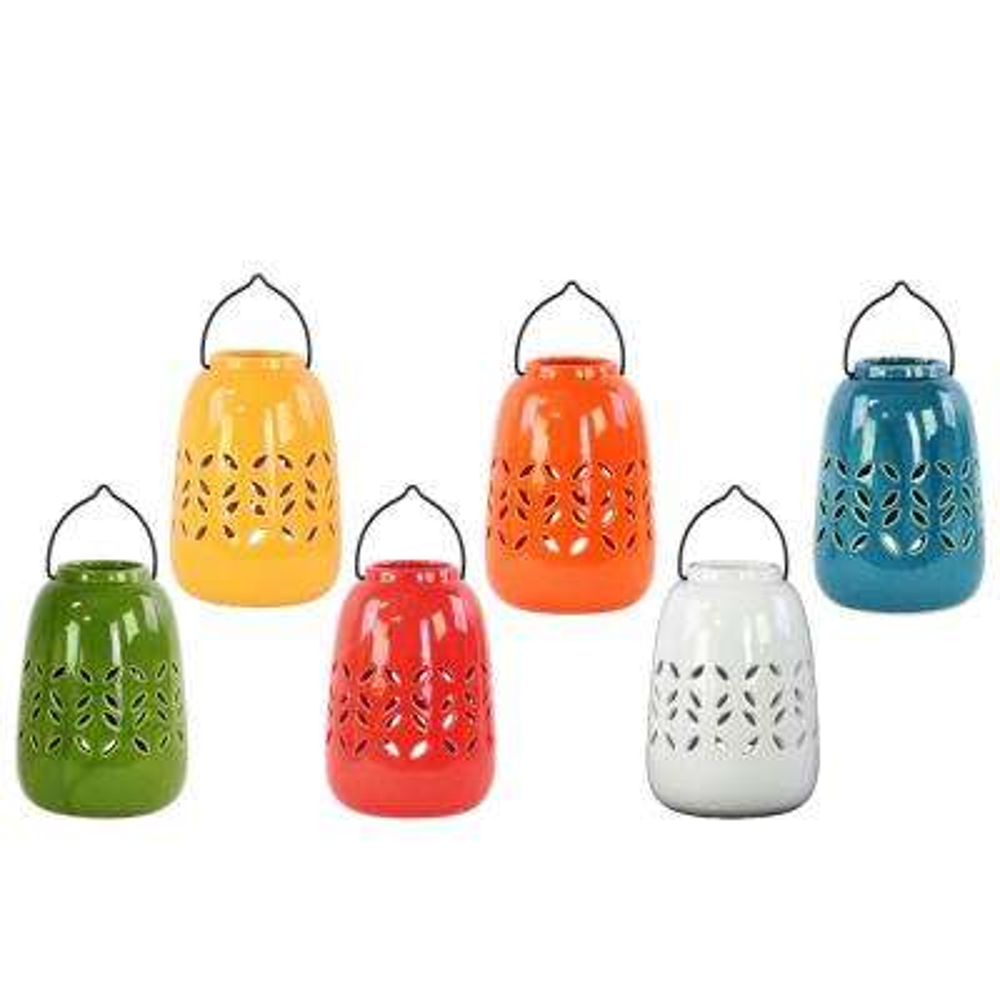 Multicolor Candle Ceramic Decorative Lantern