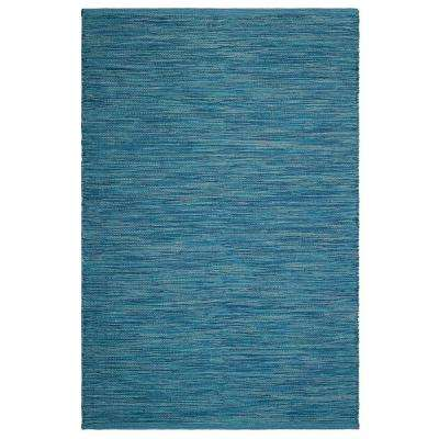 Cancun Indoor/Outdoor Blue 8 ft. x 10 ft. PET Area Rug