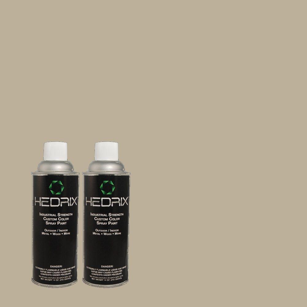 Hedrix 11 oz. Match of 790D-4 Granite Boulder Flat Custom Spray Paint (2-Pack)