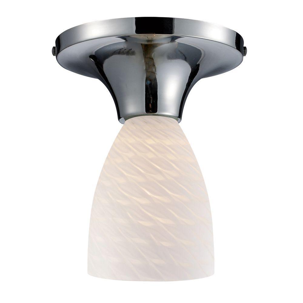 Celina 1-Light Polished Chrome Semi-Flush Mount Light