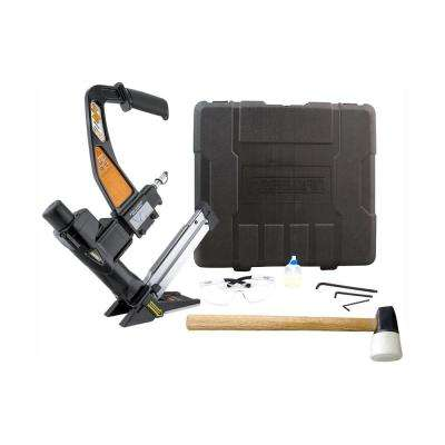 Pneumatic 3-in-1 15.5-Gauge and 16-Gauge 2 in. Flooring Nailer and Stapler with Case