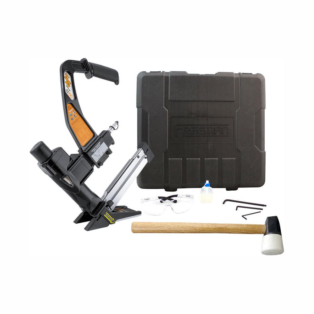 Pneumatic 3-in-1 15.5-Gauge Flooring Stapler and 16-Gauge 2 in. Flooring Nailer with Case
