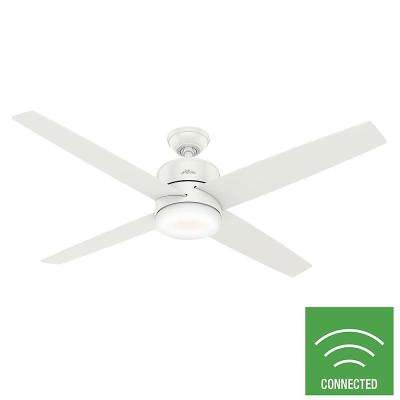 Advocate 60 in. Integrated LED Indoor Fresh White Smart Ceiling Fan with Light and Remote Control