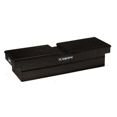 70.13 in Gloss Black Aluminum Full Size Crossbed Truck Tool Box