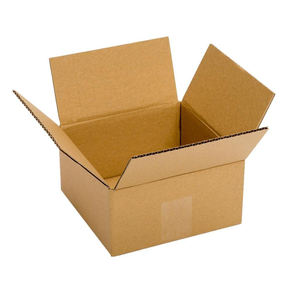 Plain Brown Box 8 in. x 8 in. x 6 in. 25 Moving Box Bundle