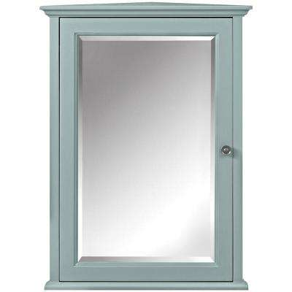 Hamilton 20 in. W x 27 in. H x 12 in. D Corner Bathroom Storage Wall Cabinet in Sea Glass