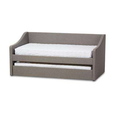 Barnstorm Contemporary Gray Fabric Upholstered Twin Size Daybed