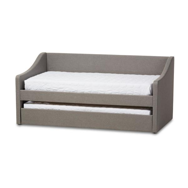 Baxton Studio Barnstorm Contemporary Gray Fabric Upholstered Twin Size Daybed