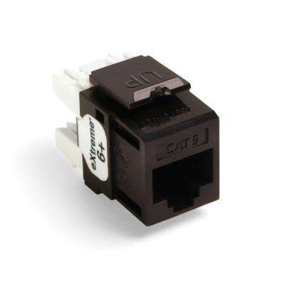 QuickPort Extreme CAT 6 Connector with T568A/B Wiring, Brown