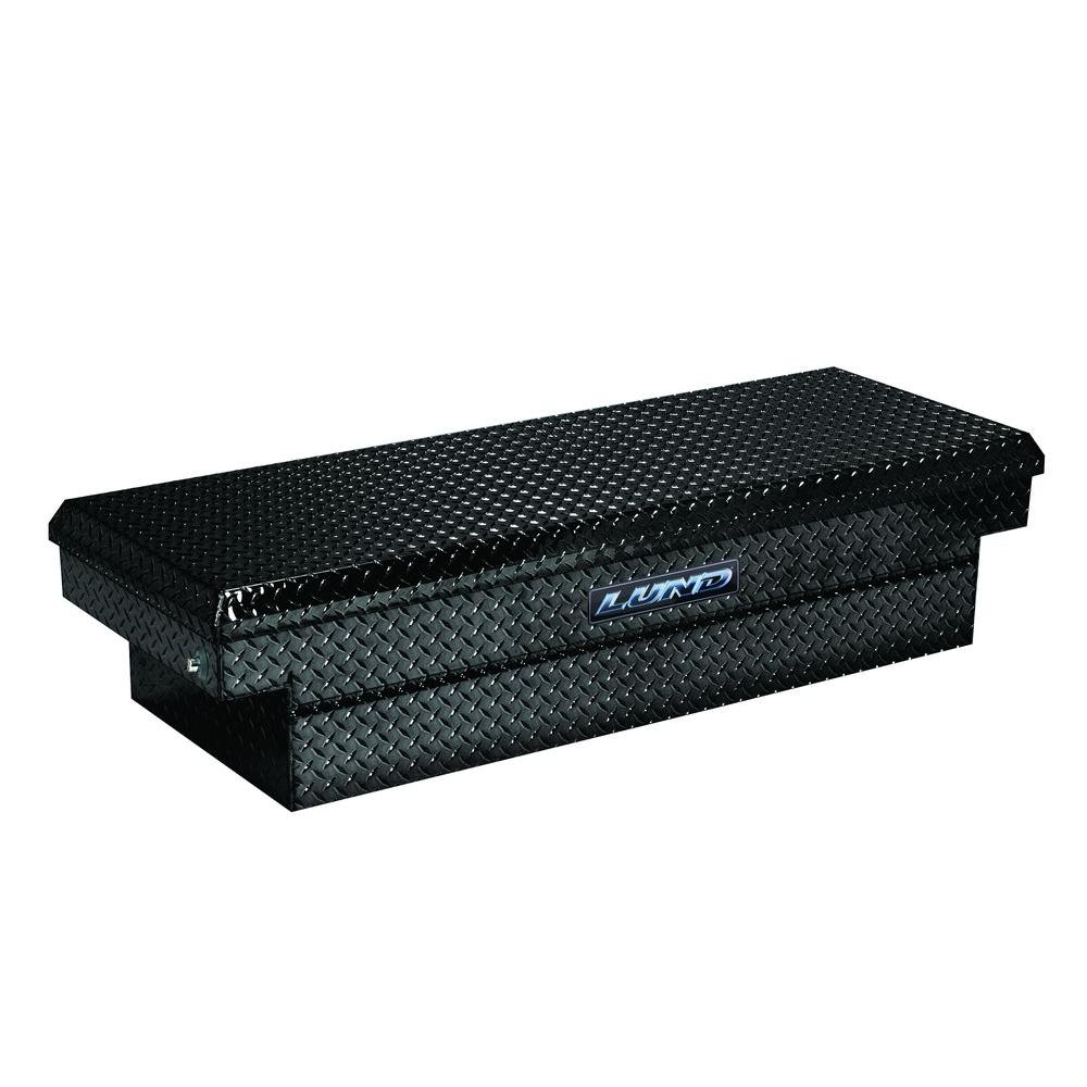 Lund 72 in. Cross Bed Full Size Black Aluminum Push Button Tool Box