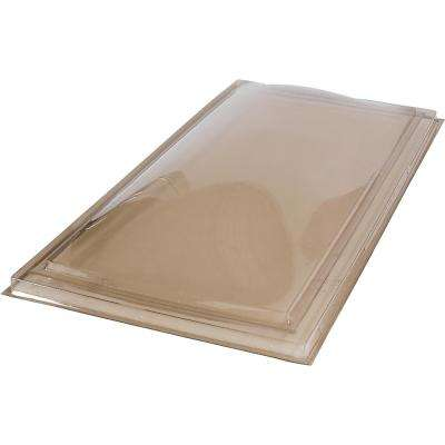 22-1/2 in. x 46-1/2 in. Fixed Curb Mount Polycarbonate Skylight