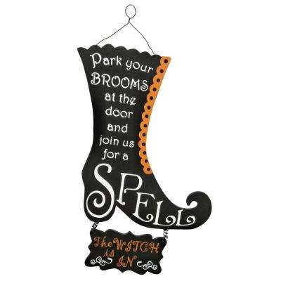 18 in. Halloween Boot Wall Decor